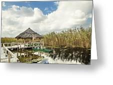 Shelter Reed On Lake Greeting Card