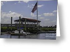 Shem Creek Bar And Grill Greeting Card