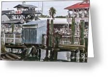 Shem Creek Dockage Greeting Card