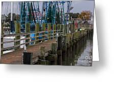 Shem Creek Pier Greeting Card