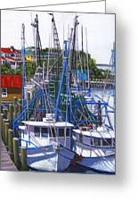 Shem Creek Shrimp Boats Greeting Card