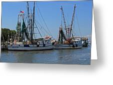 Shem Creek Shrimpers Greeting Card