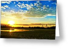 Shem Creek Sunset Greeting Card