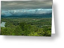 Shenandoah Green Valley Greeting Card by Lara Ellis
