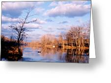 Shenandoah River In Late Autumn Greeting Card