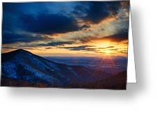 Shenandoah Sunset Greeting Card