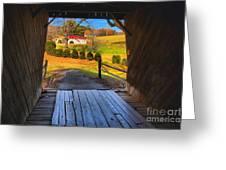 Shenandoah Virginia Covered Bridge Greeting Card