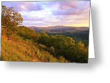 Shenandoah's Golden Hour  Greeting Card
