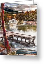 Shepherd Mountain Lake In Twilight Greeting Card