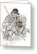 Shepherd With Dog Greeting Card