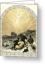Shepherds And Angel Greeting Card