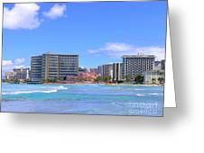 Sheraton And Royal Hawaiian View Greeting Card
