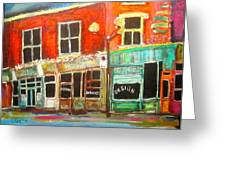 Sherbrooke Street West Greeting Card by Michael Litvack