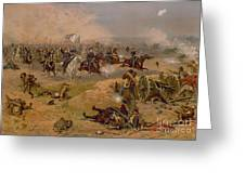 Sheridan's Final Charge At Winchester Greeting Card by American School