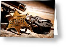 Sheriff Tools Greeting Card