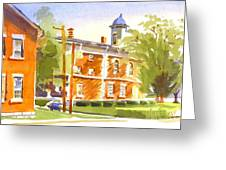 Sheriffs Residence With Courthouse II Greeting Card