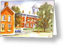 Sheriffs Residence With Courthouse Greeting Card