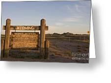 Sherman Mountains Wyoming Greeting Card