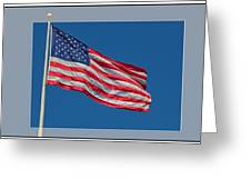 She's A Grand Old Flag Greeting Card by Floyd Hopper