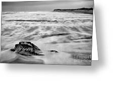 Shifting Sands On Ocracoke Outer Banks Bw Greeting Card