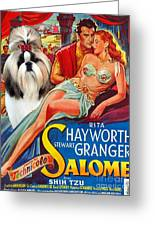 Shih Tzu Art - Salome Movie Poster Greeting Card