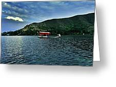 Shikara In Manasbal Lake Greeting Card