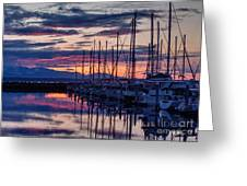 Shilshole Olympic Mountains Sunset Greeting Card