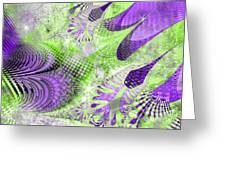 Shimmering Joy Abstract Digital Art Greeting Card