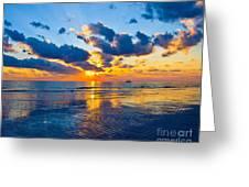 Shimmering Sundown Greeting Card
