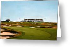 Shinnecock Hills Golf Club Greeting Card by Scott Melby