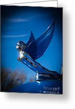 Shiny And Blue Greeting Card