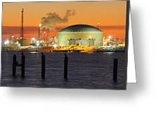 Shiny Refinery #3 2am-27808 Greeting Card