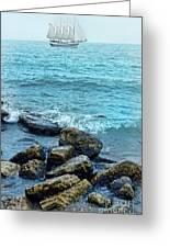 Ship At Sea Greeting Card