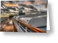 Ship Deck Greeting Card