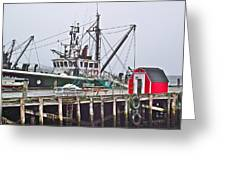 Ship Docked In Lunenburg-ns Greeting Card