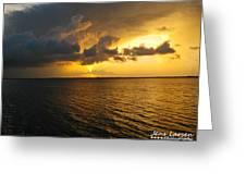 Ship Figurehead Cloud Greeting Card