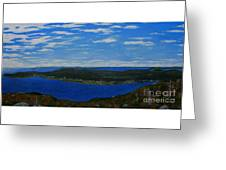 Ship Harbour From Sugarloaf Hill Greeting Card