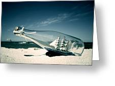 Ship In The Bottle Greeting Card