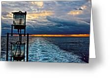 Ship Lamps Greeting Card