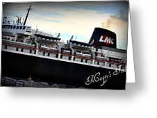 Ship Greeting Card
