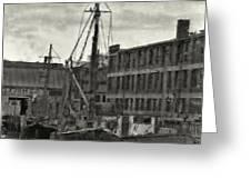 Ship Mooring Vintage Greeting Card