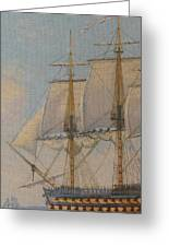 Ship-of-the-line Greeting Card