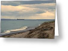 Ship On The Horizon Greeting Card