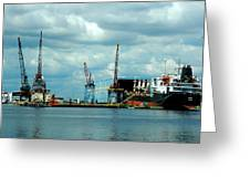 Ship Repair Greeting Card