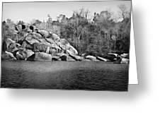 Ship Rock Island Greeting Card