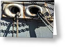 Ship Ropes Chains Greeting Card