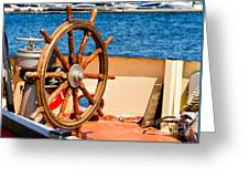 Ship Wheel Greeting Card