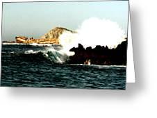 Ship Wreck At Land's End Greeting Card