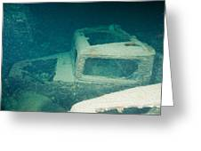 Ship Wreck With Trucks Greeting Card