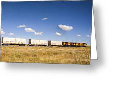 Shipping Containers On The Move By Train Greeting Card by Colin and Linda McKie